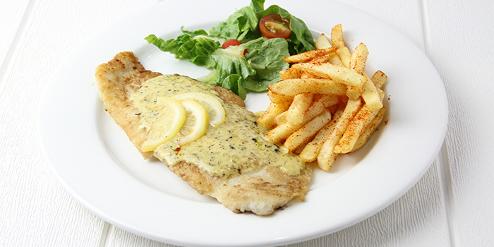 Grilled Dory with Lemon Dill Cream from Meats N Malts at BreadTalk IHQ in Tai Seng, Singapore