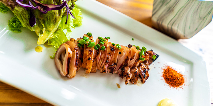 Grilled Squid from The Glass Onion at Bencoolen in Bugis, Singapore