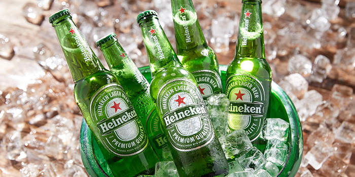Heineken Beer Bucket from Lobby Lounge & Bar at Holiday Inn Singapore Orchard City Centre in Orchard, Singapore