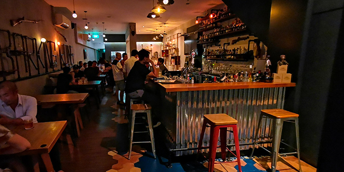 Interior of Barking Irons in Lavender, Singapore
