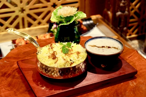Lamb Biryani from Bawarchi Rooftop at Solitaire Hotel Bangkok (Rooftop 16th Floor) 75/23 Sukhumvit Soi 13 Klongtoey-Nua Bangkok