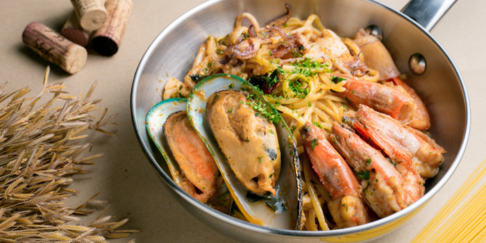 Linguine Seafood from Ciao Pizza at Sitthi Vorakij Building 1st floor, Soi Phiphat, Silom Bangkok