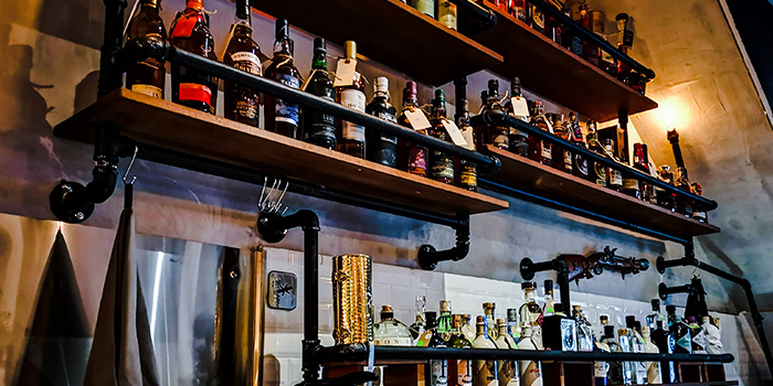 Liquor Shelf from Barking Irons in Lavender, Singapore