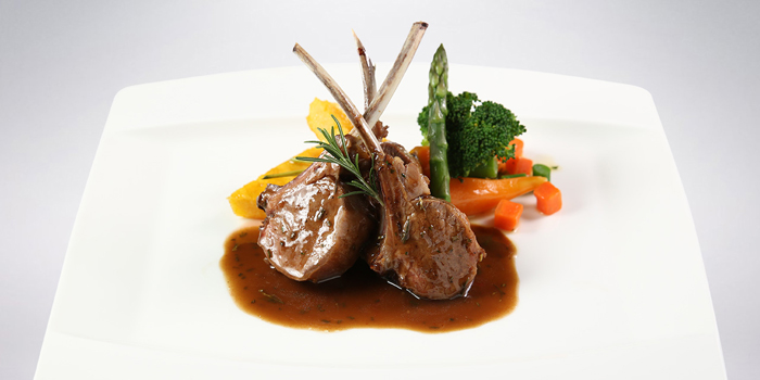 Meat Grilled Lamb Chop with Rosemary Sauce at The Village, Sanur