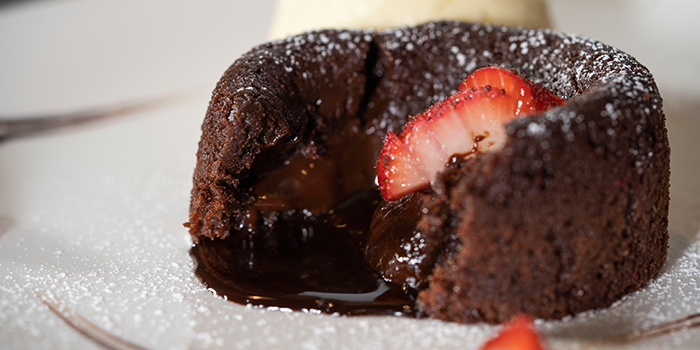 Molten Chocolate Lava Cake from The Glass Onion at Bencoolen in Bugis, Singapore