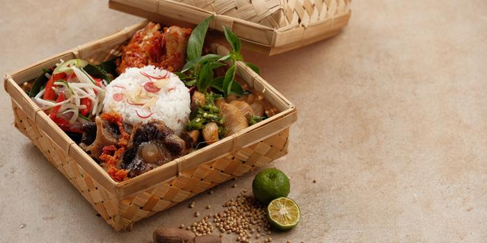 Nasi Besek Cabe Pecah at Mezzanine Restaurant, Gading Serpong