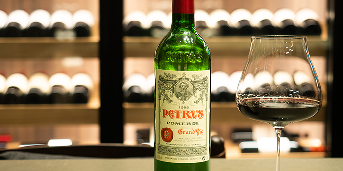 Petrus Pomerol Grand Cru from Grand Cru at South Courtyard at The Fullerton Hotel Singapore in Raffles Place, Singapore