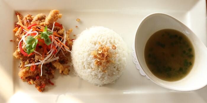Food from Riva Bar and Restaurant, Kuta, Bali