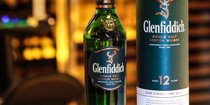 Glenfiddich from Bar on 5 at Mandarin Hotel in Orchard, Singapore