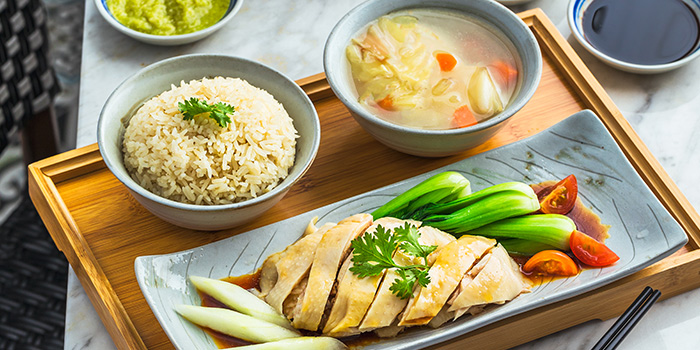 Hainanese Chicken Rice from Colonial Club Signatures at Paragon Shopping Centre in Orchard, Singapore