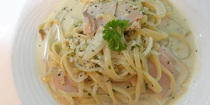 Carbonara from Cucina Restaurant & Catering at Aperia Mall in Kallang, Singapore
