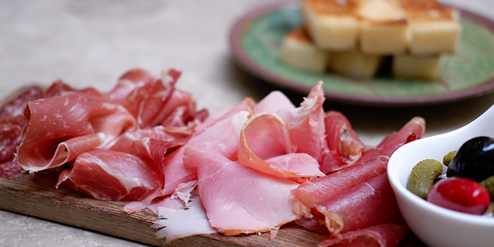 Charcuterie from Grand Cru at South Courtyard at The Fullerton Hotel Singapore in Raffles Place, Singapore