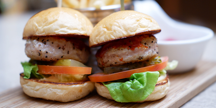 Chicken Kimchi Sliders from Grand Cru at South Courtyard at The Fullerton Hotel Singapore in Raffles Place, Singapore