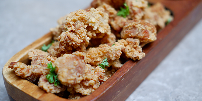 Popcorn Chicken from Grand Cru at South Courtyard at The Fullerton Hotel Singapore in Raffles Place, Singapore