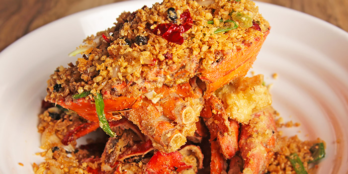 HK Style Typhoon Crab from Happiness Seafood by Uncle Leong Signatures in Kallang, Singapore