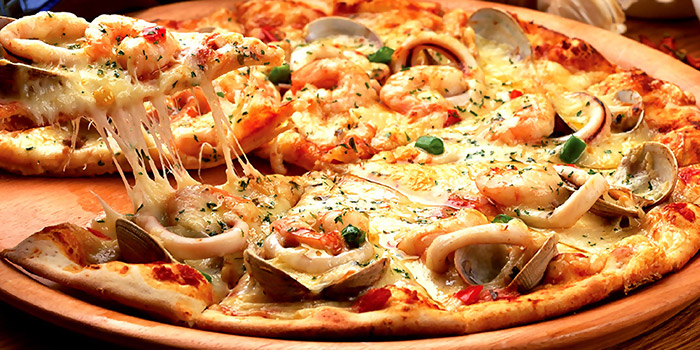 Seafood Gumbo Pizza from HooHa Cafe at Viva Vista Mall in Buona Vista, Singapore