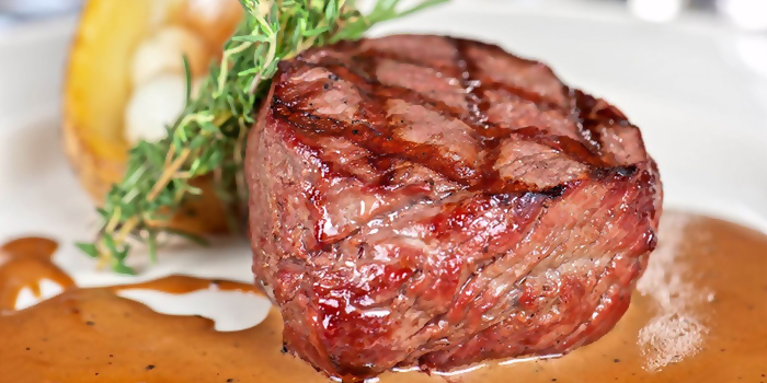 Tenderloin Steak from HooHa Cafe at Viva Vista Mall in Buona Vista, Singapore