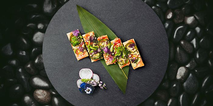 Ahi Tuna Pizza from KOMA Singapore at Marina Bay Sands in Marina Bay, Singapore