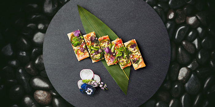Ahi Tuna Pizza from KOMA Singapore at Marina Bay Sands in Marina Bay, Singapore