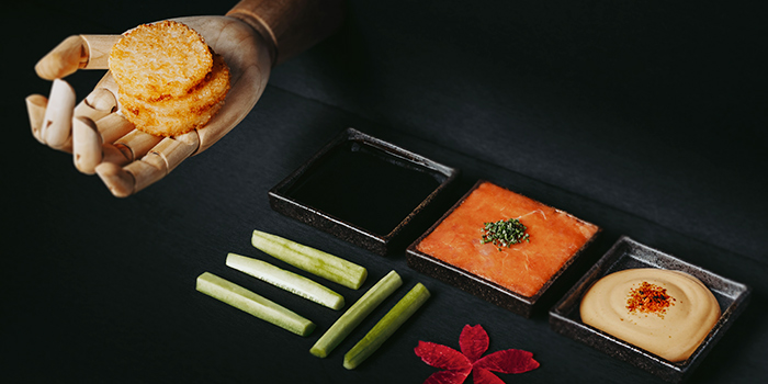 DIY Spicy Tuna from KOMA Singapore at Marina Bay Sands in Marina Bay, Singapore