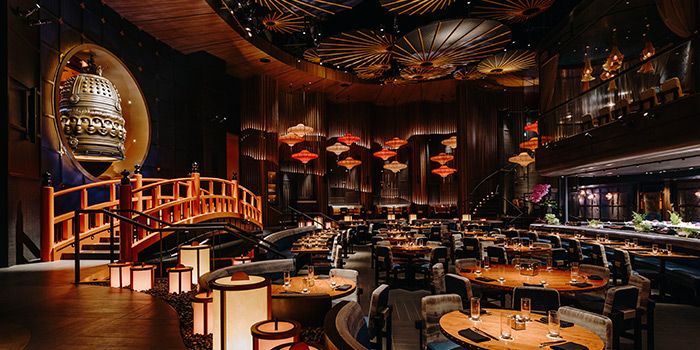 Interior of KOMA Singapore at Marina Bay Sands in Marina Bay, Singapore