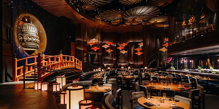 Interior of KOMA Singapore at Marina Bay Sands in Marina Bay, Singapore