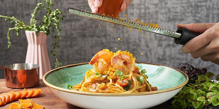 Spaghetti Costiera from La Scala Ristorante at Arcade @ The Capitol Kempinski in City Hall, Singapore