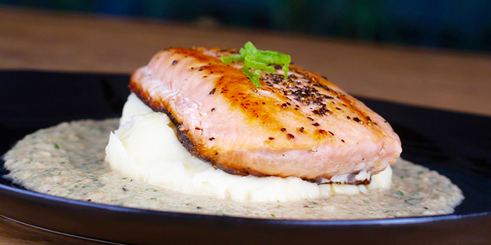 Pan Seared Salmon from Lin Rooftop Bar in Tiong Bahru, Singapore