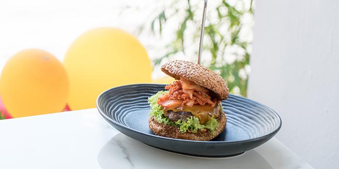 Spicy Kimchi Burger from Lombardo