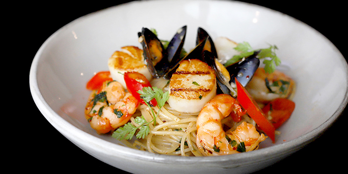 Seafood Aglio Olio with Capellinifrom Otto