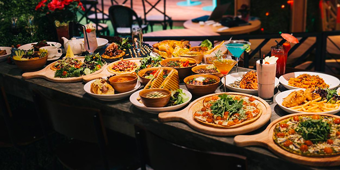 Food Spread from Picnic Food Park at Wisma Atria in Orchard Road, Singapore