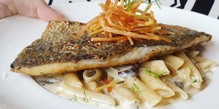Pan Seared Sea Bass fillet from PizzaFace (Concourse) at The Concourse in Bugis, Singapore