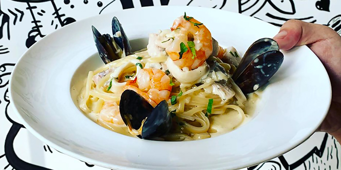 Seafood Linguine from PizzaFace (Concourse) at The Concourse in Bugis, Singapore