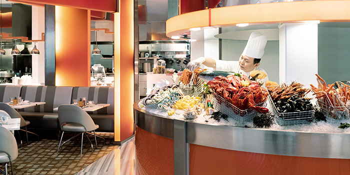 Seafood Counter of The Line in Shangri-La Hotel in Orchard, Singapore