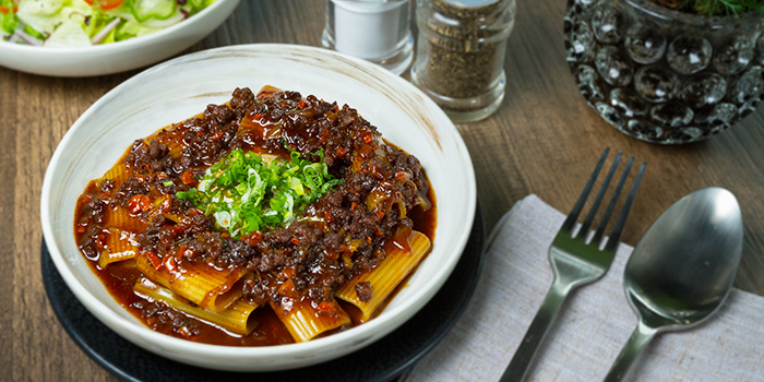 Rigatoni Bolognese from Viio Gastropub Restaurant & Bar in Balestier, Singapore