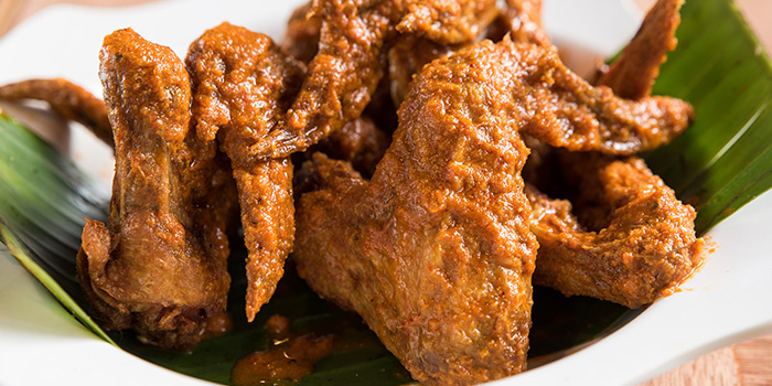 Peranakan Buffalo Wings from Woody Family Cafe in Sembawang, Singapore