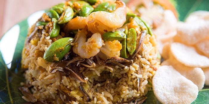 Sambal Petai Ikan Bilis Fried Rice from Woody Family Cafe in Sembawang, Singapore