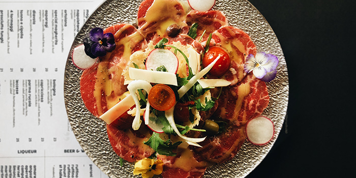 Beef Carpaccio from d.o.c in Tanjong Pagar, Singapore