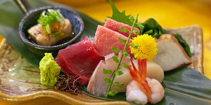 Sashimi from Mizuya at Cavan Suites in Jalan Besar, Singapore