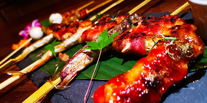 Signature Charcoal Grilled Skewers from Barking Irons in Lavender, Singapore