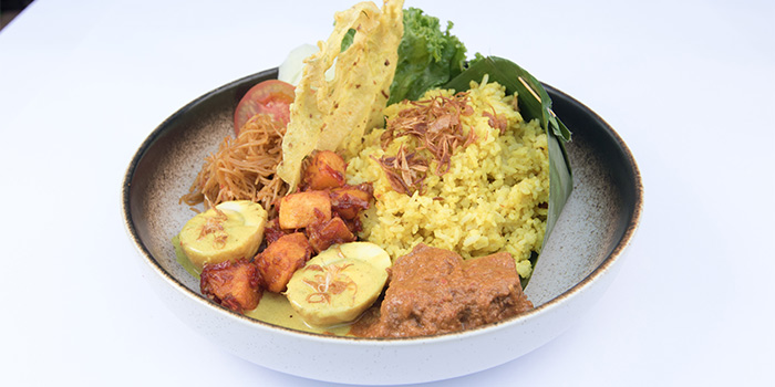 Turmeric Rice Braised beef, Soya Egg and Vermicelli