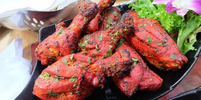 Tandoori Chicken from Bawarchi Rooftop at Solitaire Hotel Bangkok (Rooftop 16th Floor) 75/23 Sukhumvit Soi 13 Klongtoey-Nua Bangkok