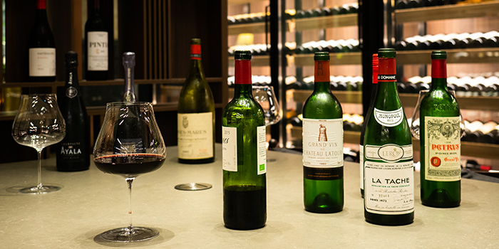 Wines from Grand Cru at South Courtyard at The Fullerton Hotel Singapore in Raffles Place, Singapore