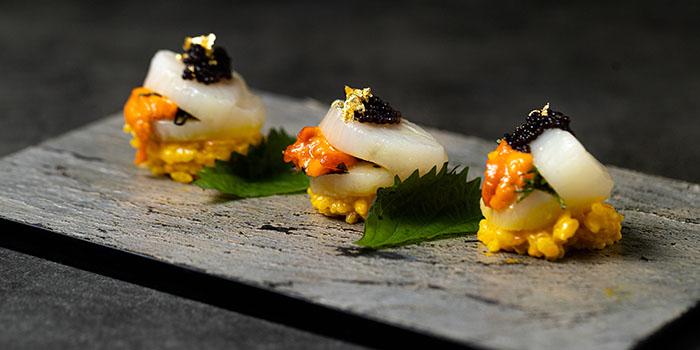 Hokkaido Scallops With Sea Urchin, Zeng, Causeway Bay, Hong Kong