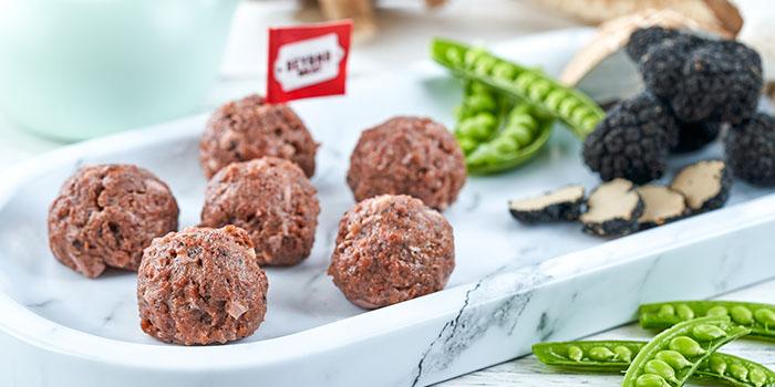 Beyond Meat Vegetarian Beef Balls with Black Truffles & Mushrooms, Megan
