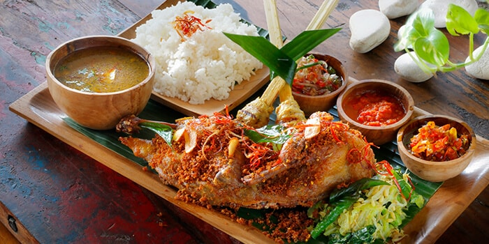 Food from The Mooi River Valley, Gianyar, Bali