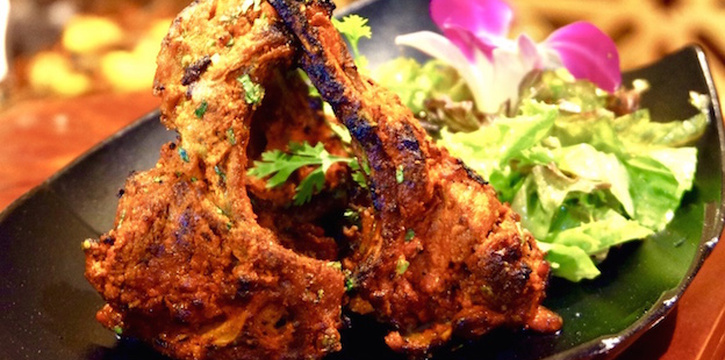 Lamb Tandoor from Bawarchi Rooftop at Solitaire Hotel Bangkok (Rooftop 16th Floor) 75/23 Sukhumvit Soi 13 Klongtoey-Nua Bangkok