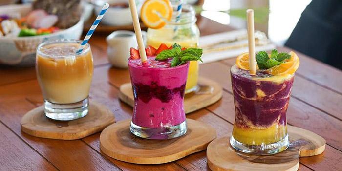 Drinks from Kin Cafe, Seminyak, Bali