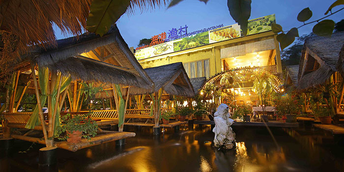 Interior from Bubu Seafood and Chinese Restaurant, Nusa Dua, Bali