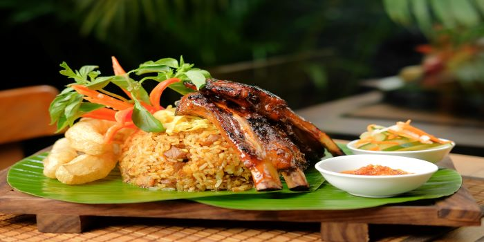 Nasi Goreng Pork Ribs at Ginger Moon in Seminyak, Bali